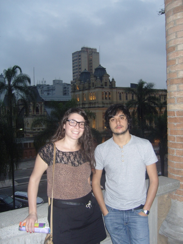 Gracias Fran por acompañarme a la Pinacoteca.
