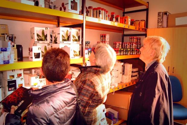 Mostrador de productos.