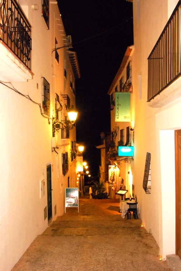 Calle del casco antiguo de Altea.