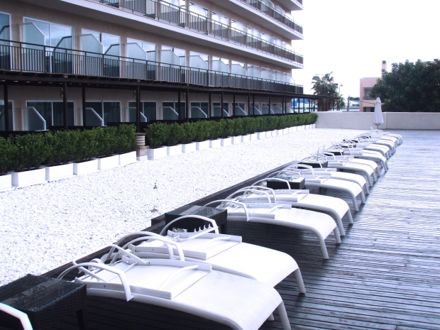 Terraza hotel Java Mallorca.