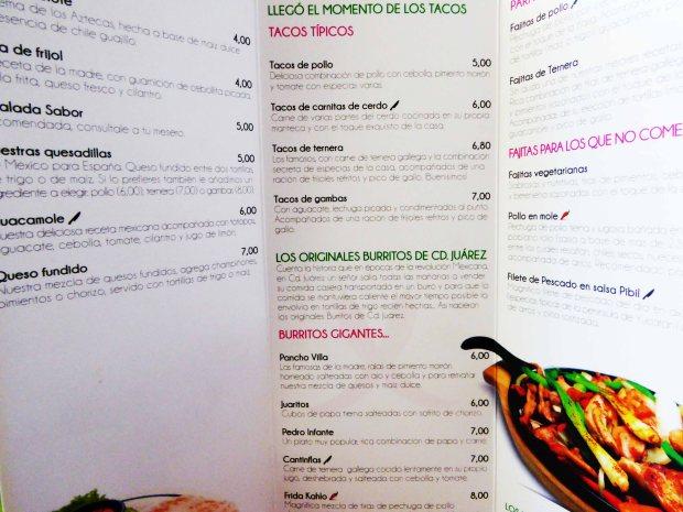 Restaurante mejicano Benidorm.