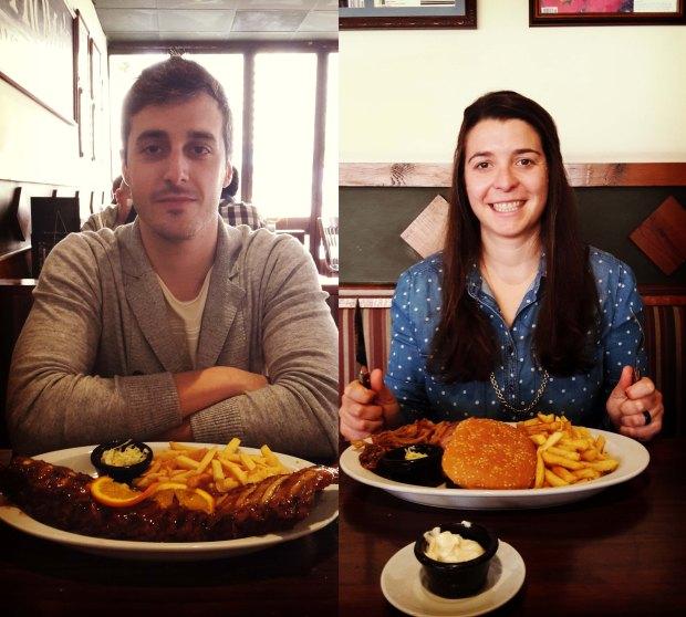 Restaurante en Benidorm Tony Romas, Edu y yo.