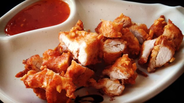 Restaurante japonés Benidorm , pollo con almendras