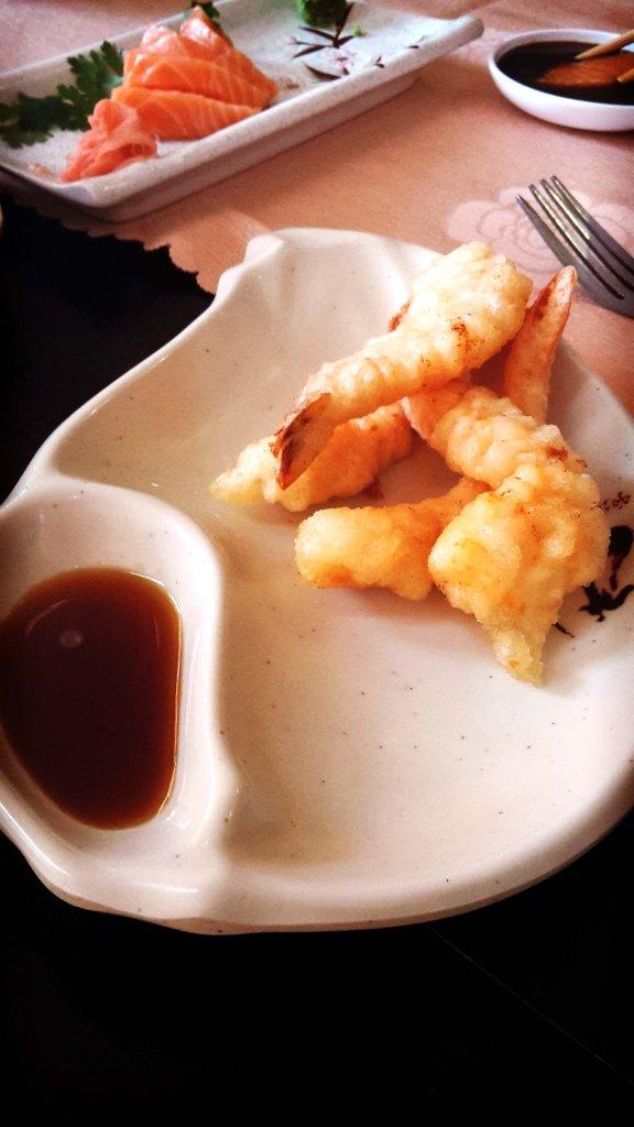 Restaurante japonés en el Albir, gambas.