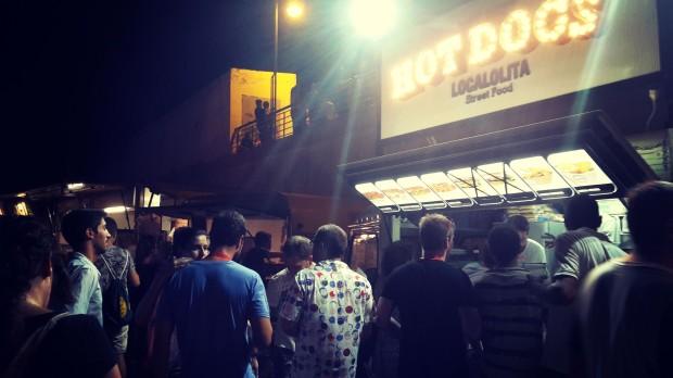 Low festival 2015 Benidorm, puestos de comida.
