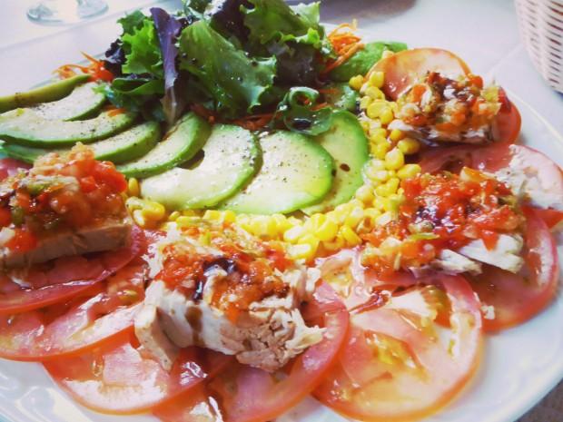 Restaurante Los 7 pecados en Benidorm, ensaladas.