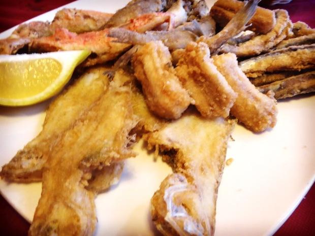 Ca Jaume Altea, fritura de pescado.