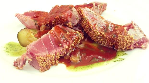 Restaurante Can Tapetes del Port, Altea Tataki de atún.