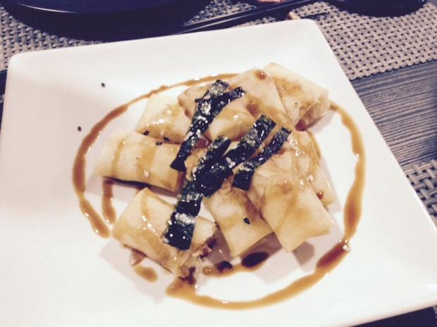 Restaurante japonés Alicante Kitagawa. Rollitos de primavera.