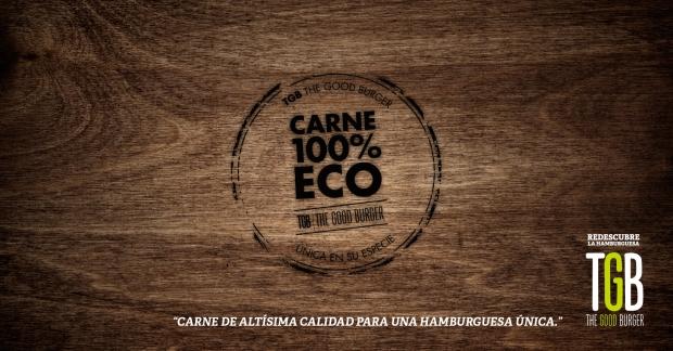 TGB fast food in Benidorm, carne 100% eco.