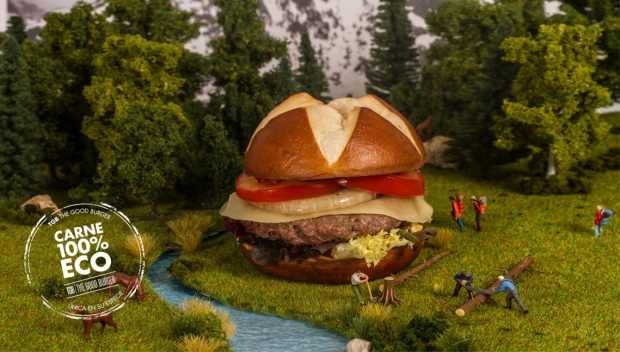 TGB fast food in Benidorm, publicidad.