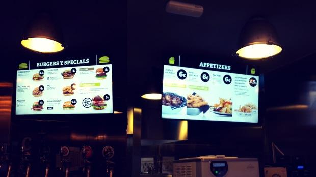 TGB fast food in Benidorm.