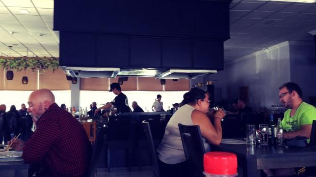 Restaurante Meluka Albir, interior cocina