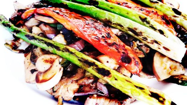 Rincón Murciano restaurante en Benidorm, parrillada de verduras.