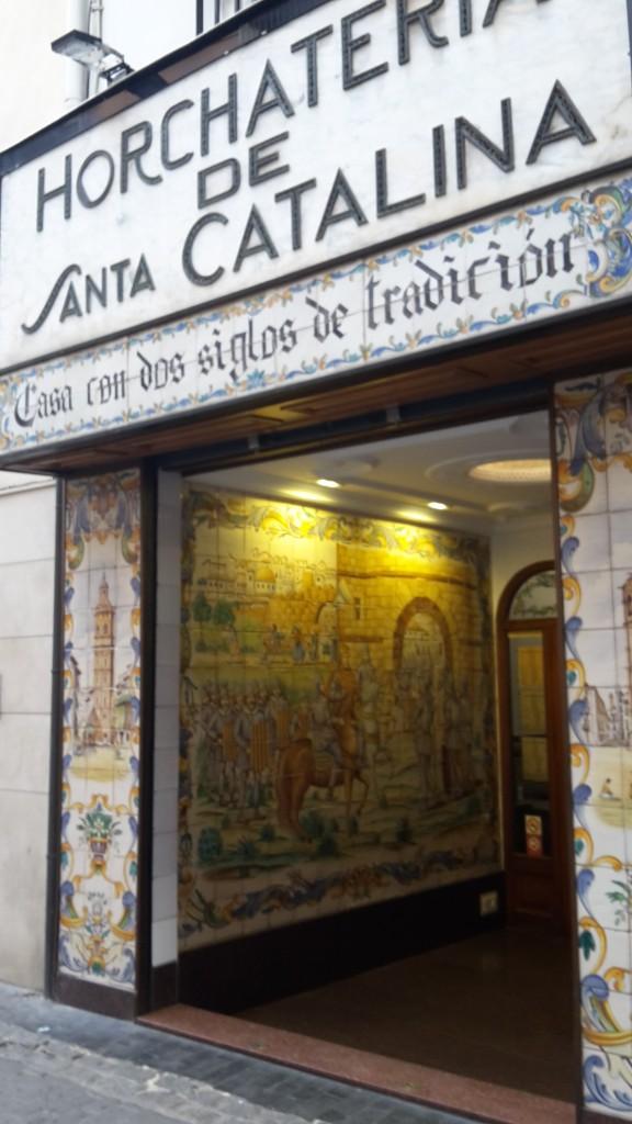 Valencia, horchatería Santa Catalina.
