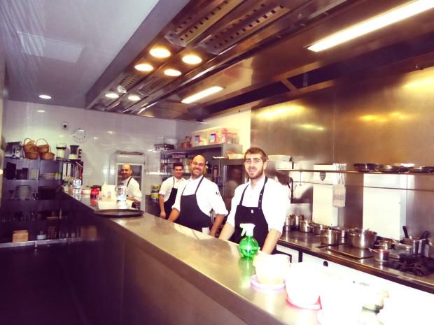 Los cocineros.