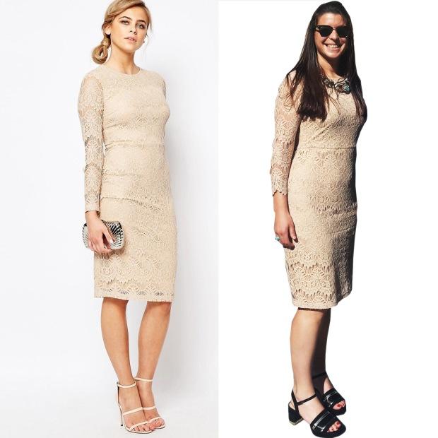 Comparativa vestido Asos.