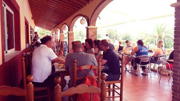 Restaurante Camping el racó Benidorm, el local.