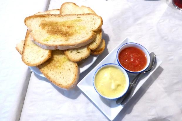 Chiringuito el Cranc Altea, el pan.