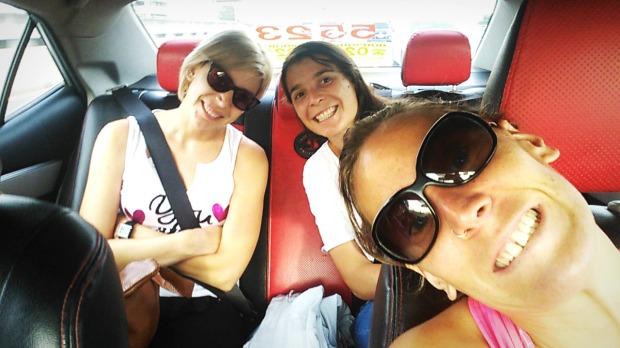 Coger taxi en Tailandia.
